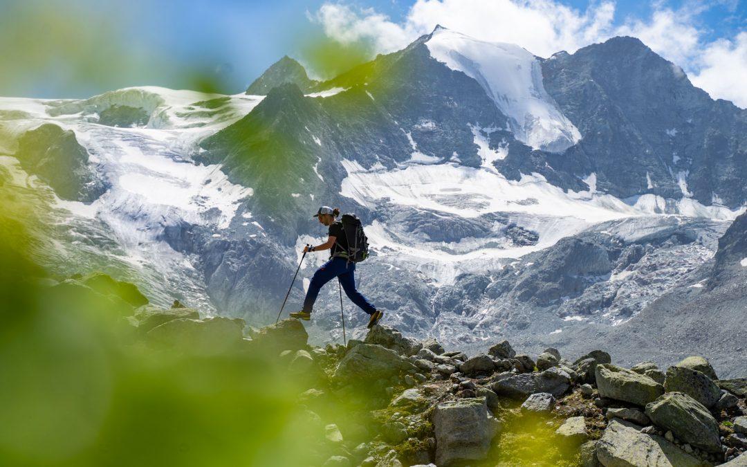 Mehrseillänge mit Gletscherblick